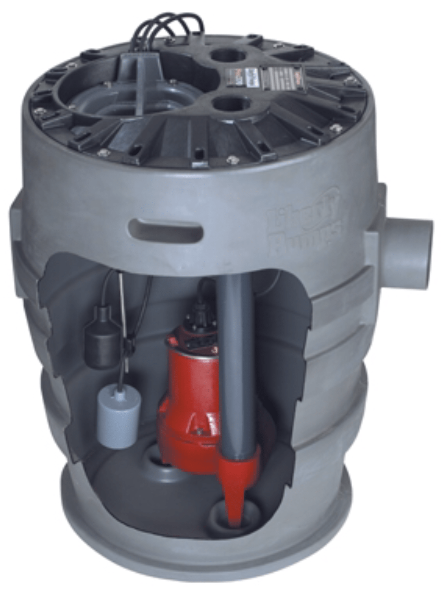Ejector sewage pit