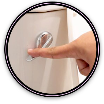 Why do I need to hold the handle down to flush