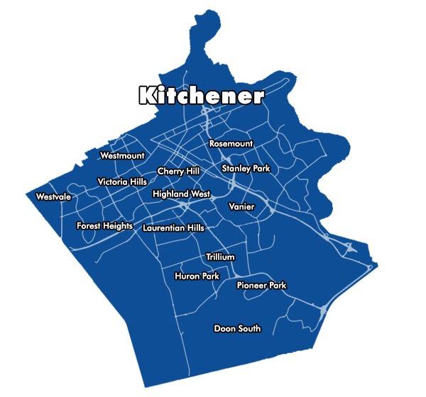 Kitchener Plumbing Map