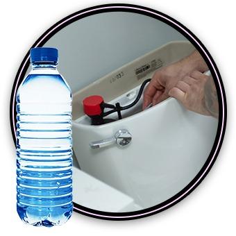 Plumbing Hacks: water bottle toilet tank