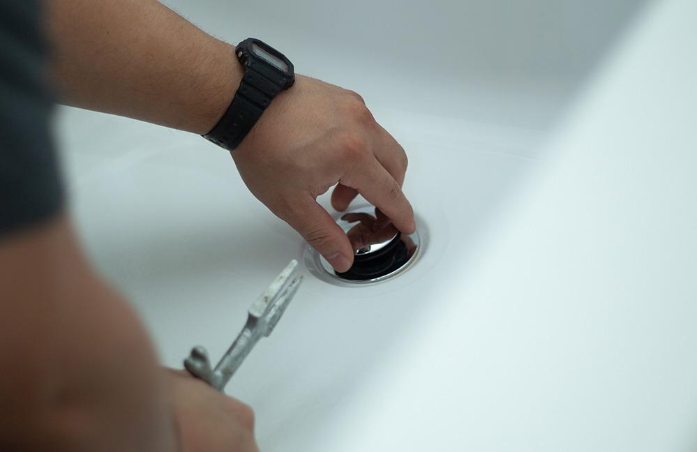 Drain Pipe Repair bathtub